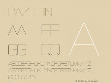 Paz Thin Version 1.000 Font Sample