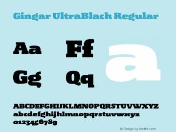 Gingar Ultrablack Fontgingar Ultrablack Fontgingar Fontgingar