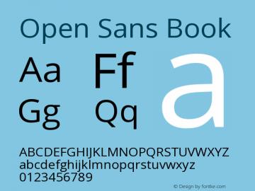 Open Sans Book Version 1.10 Font Sample