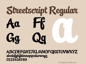 Streetscript Regular 1.002图片样张