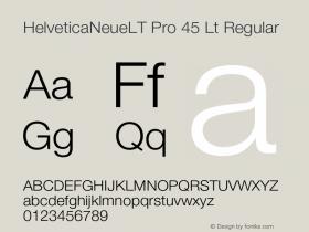 HelveticaNeueLT Pro 45 Lt Regular Version 1.000;PS 001.000;Core 1.0.38 Font Sample
