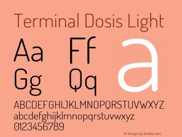 Terminal Dosis Light Version 1.006 Font Sample