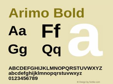 Arimo Bold Version 1.20 Font Sample