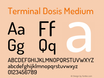 Terminal Dosis Medium Version 1.006 Font Sample