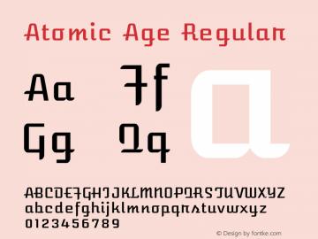 Atomic Age Regular Version 1.003 Font Sample