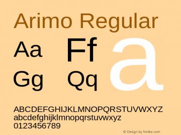 Arimo Regular Version 1.20 Font Sample