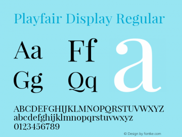 Playfair Display Regular Version 1.000 Font Sample