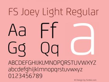 FS Joey Light Regular Version 2.000 Font Sample