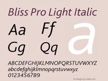 Bliss Pro Light Italic 001.001图片样张