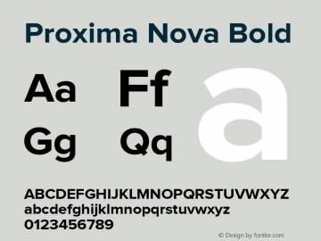 Proxima Nova Bold Version 1.001 2005 Font Sample