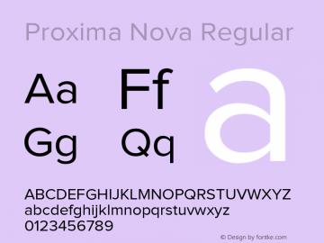 Proxima Nova Regular Version 1.001 2005 Font Sample