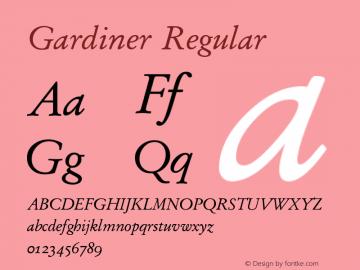 Gardiner Regular Version 3.14图片样张
