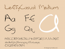 LeftyCasual Medium 001.001 Font Sample