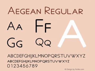 Aegean Regular Version 6.15图片样张