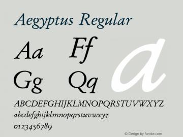 Aegyptus Regular Version 3.14图片样张