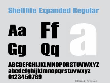 Shelflife Expanded Regular Version 1.000 2011 initial release图片样张
