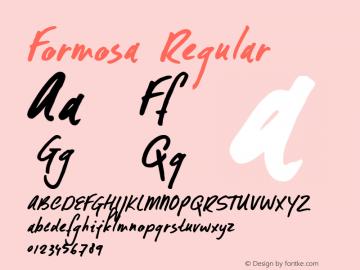 Formosa Regular Version 1.001图片样张