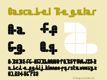 Cascabel Regular Version 1.00 Font Sample
