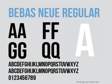 Bebas Neue Regular Version 1.101 Font Sample