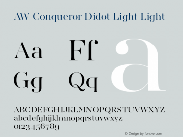 aw conqueror didot light font