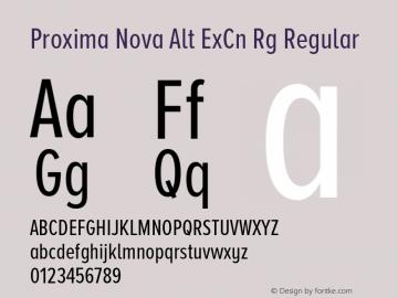 Proxima Nova Alt ExCn Rg Font,Proxima Nova Alt Extra