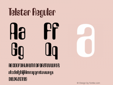 Telstar Regular Version 2.000 Font Sample