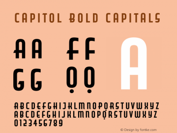 Capitol Bold Capitals Version 1.000图片样张