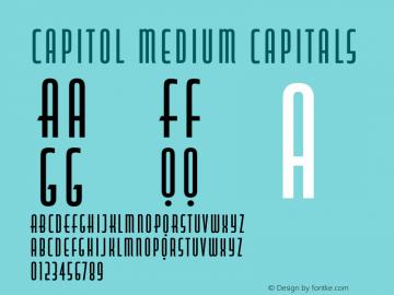 Capitol Medium Capitals Version 1.000图片样张