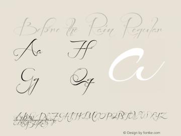 Before the Rain Regular Version 001.000 Font Sample