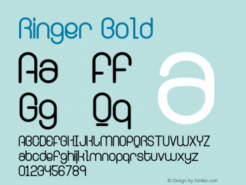 Ringer Bold Version 001.000 Font Sample