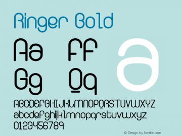 Ringer Bold Version 001.000图片样张