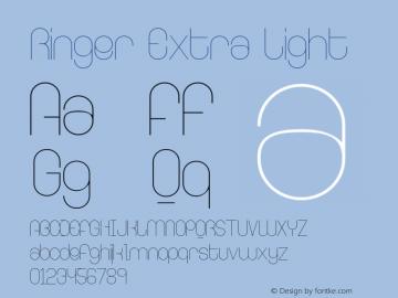 Ringer Extra Light Version 001.000图片样张