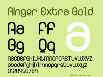 Ringer Extra Bold Version 001.000 Font Sample