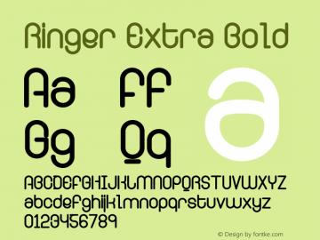 Ringer Extra Bold Version 001.000图片样张