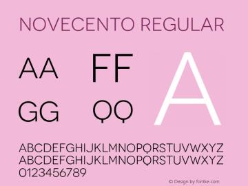 Novecento Regular Version 1.00 Font Sample