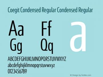 Coegit Condensed Regular Condensed Regular Version 1.000 Font Sample