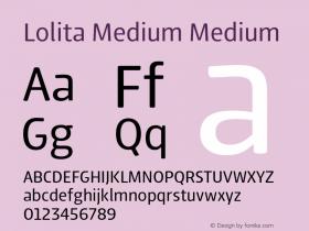 Lolita Medium Medium 1.000 Font Sample