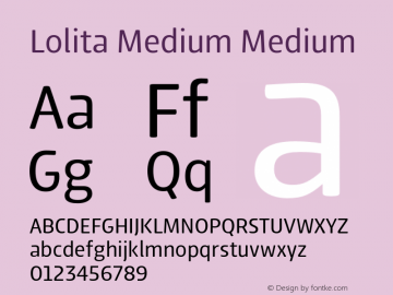 Lolita Medium Medium 1.000 Font Sample