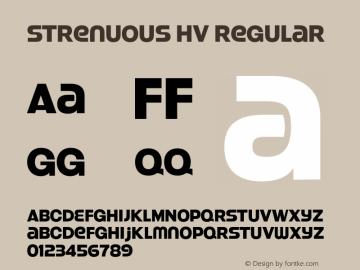 Strenuous Hv Regular OTF 4.000;PS 001.001;Core 1.0.29 Font Sample