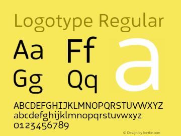Logotype Regular Version 1.000图片样张