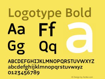 Logotype Bold Version 1.000图片样张
