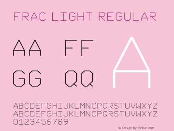 FRAC Light Regular Version 1.005 2009图片样张