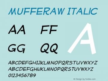 Mufferaw Italic Version 2.200;PS 002.200;hotconv 1.0.38 Font Sample
