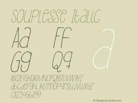 Souplesse Italic Version 1.000图片样张