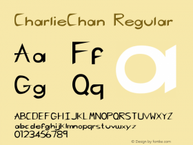 CharlieChan Regular Altsys Fontographer 3.5  3/29/92 Font Sample