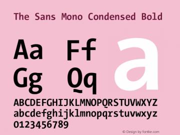 The Sans Mono Condensed Bold Version 001.000 Font Sample