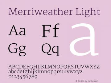 Merriweather Light Version 1.276 Font Sample