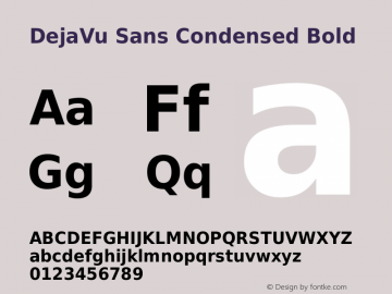 DejaVu Sans Condensed Bold Version 2.30图片样张