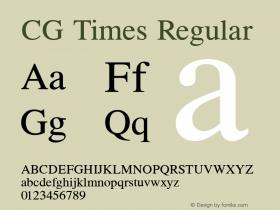 CG Times Regular Version 1.04 Font Sample