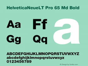 HelveticaNeueLT Pro 65 Md Bold Version 1.000;PS 001.000;Core 1.0.38 Font Sample